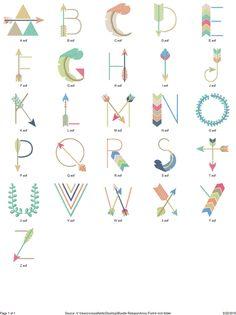 Arrow Font