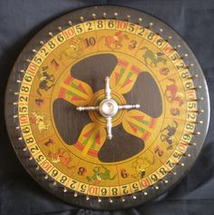 """Race Horse Wheel-of-Fortune  Race Horse Wheel-of-Fortune. Measures 10"""" across. Condition is excellent."""