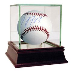 SOLD - Jose Reyes Signed MLB Baseball (SSM 3rd Party Holo/Cert Card) with Single Baseball Glass Display Case