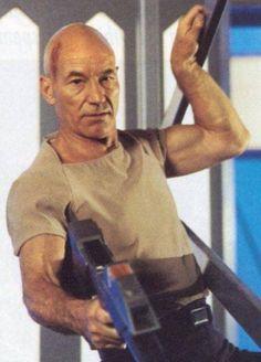 Captain Jean Luc Picard.....my second favorite bald man after my huny-buny.  Bald guys....BADASS!