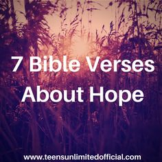 7 Bible Verses About Hope