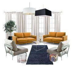 LIVING ROOM by mary-novo on Polyvore featuring interior, interiors, interior design, home, home decor, interior decorating, Knoll, Missoni Home, Authentics and Petit Tresor