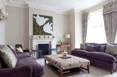 Using color... Aubergine gorgeous!  Traditional Living Room by Fiona Andrews Interiors Limited