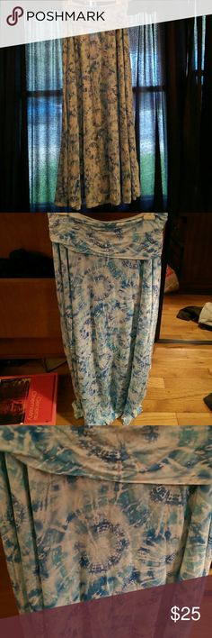 Tie dye maxi skirt Has a short slip under so it isn't see through, flowy, super soft! Final touch Skirts Maxi