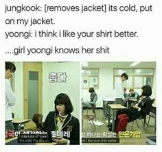 Girl Yoongi is a fucking savage, she knows what she wants ts and how to get it
