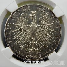 1865 B GERMANY THALER BREMEN SHOOTING FESTIVAL NGC MS-63 COLLECTIBLE SILVER COIN