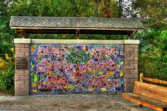 Pickerington Ponds Mural...my girls contributed to this! - http://www.thebuckeyerealtyteam.com