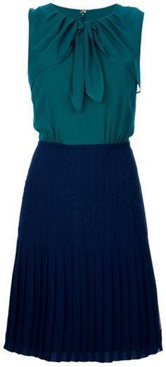 Pleated Knee Length Skirt - summer work perfection