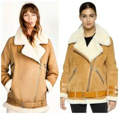 Aspiration Style through Accessible Fashion Shearling Coat, Things To Buy, Acne Studios, Amazing Women, Cool Style, Leather Jacket, Clothes For Women, Jackets, Dresses