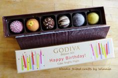 Needle felted chocolates in a Happy Birthday by FunFeltByWinnie, $48.00  (diet chocolates?LOL!)