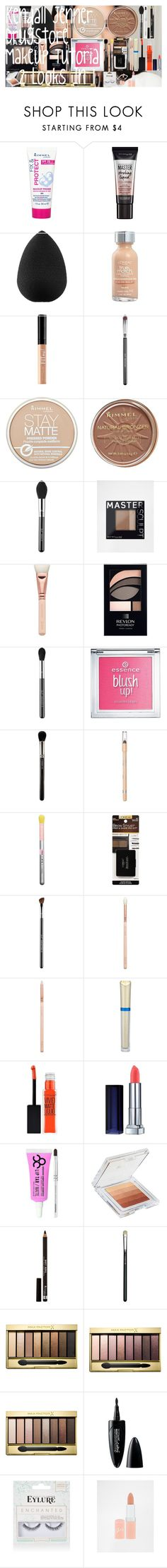 Kendall Jenner Drugstore Makeup Tutorial - 2 Looks In 1 by oroartye-1 on Polyvore featuring beauty, Max Factor, MAC Cosmetics, Revlon, Sigma, Obsessive Compulsive Cosmetics, beautyblender, ZOEVA, L'Oréal Paris and Maybelline