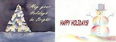 "Andrea's Art Studio ""Happy Holidays"" watercolors by Andrea Levasseur"
