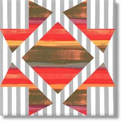 NO NAME STAR - another pattern to use with stripes