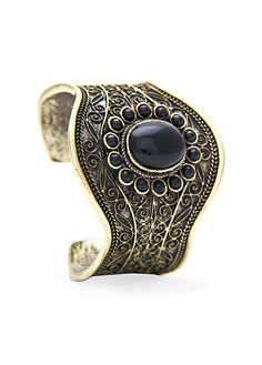 MANGO - TOUCH - Engraved stones cuff
