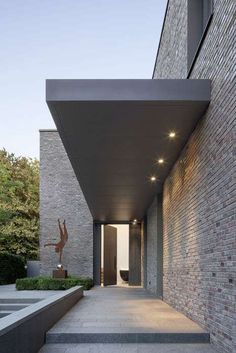 New Ideas House Exterior Brick Modern Architecture Rustic Contemporary, Contemporary Architecture, Contemporary Chandelier, Contemporary Stairs, Modern Lamps, Modern Architecture Homes, Contemporary Furniture, Contemporary Fireplaces, Modern Stairs