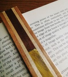 Wooden bookmark 3 by KevinWilliamson on Etsy, $10.00