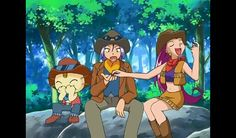 Cowgirl Jessie took cowboy James cattle and ranger Meowth is giggling about it