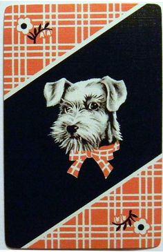 Vintage Playing Card - Scottie Dog