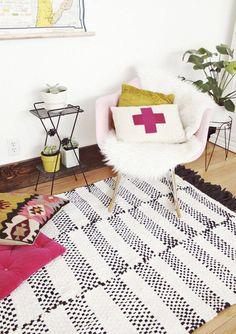 Woven Rug DIY #apartmenttherap
