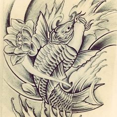 - tattoo japan style ocean tattoo thai tattoo koi fish tattoo fish … You are in the right place abou - Coy Fish Tattoos, Carp Tattoo, Ocean Tattoos, Thai Tattoo, Tatoos, Fresh Tattoo, Japan Tattoo, Oriental Tattoo, Fish Drawings