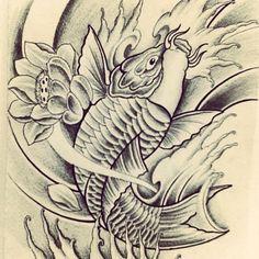 Half sleeve Koi fish tattoo design by FingerPrint1404 on deviantART