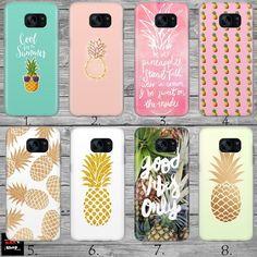 Pineapple Summer Hype Fruit THIN case cover Samsung S5 S6 S7 S8 Edge + J3 J5 J7