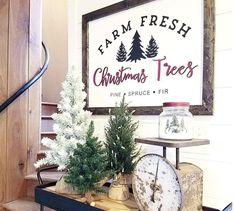 Farm Fresh Christmas Trees Wood Sign Laser Cut Wood Sign