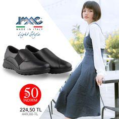 Minimal tasarımı ve üst düzey konforu ile IMAC kadın ayakkabı her yaşa her zevke hitap ediyor. %50 İndirimle hemen almak için vingi.com.tr'yi ziyaret edin. Made in Italy. Ücretsiz kargo. Tabata, Slip On, Sneakers, How To Make, Shoes, Style, Fashion, Trainers, Moda