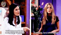 """And when Monica was just being way too Monica. 