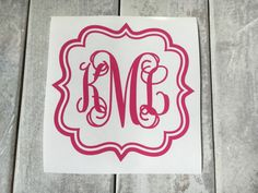 Car decals are such a great way to personalize your vehicle. They also make great gifts for Christmas or birthdays etc. ! Vinyl is easy to apply and easy to remove. Great way to personalize almost anything! Leaves no mess or damage. Please note: outdoor vinyl is not to be used on walls! PLEASE send me the info below in the message to seller box at checkout. Thanks!  1. Initials as you want them to appear from left to right (first, last, middle). For example, if your name was Hannah Marie…