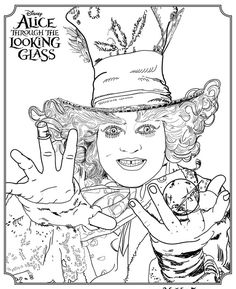 Here Are A Bunch Of Alice Through The Looking Glass Free Printables Coloring Pages