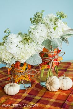 White Table Style: The Lifestyle Blog: DIY Fall Leaves Vase