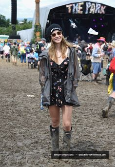 Suki Waterhouse and Cara Delevingne prepared to get a little muddy as they  swapped their high heels for wellies for day three of Glastonbury in  Somerset on ... e69aed29a0