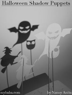 What better way to celebrate Halloween than with your own ghoulish Halloween shadow puppet show. We've been having great fun coming up with stories. Mummy Crafts, Halloween Crafts, Crafts For Kids, Arts And Crafts, Fun Things, Things To Come, Nightmare Before Christmas Halloween, Celebration Day, Puppet Show