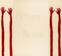 "Louise Bourgeois / ""Extreme Tension"", 2007, (detail) — 11 panels of various sizes, etching and mixed medias. Courtesy Osiris, New-York. This is the panel 1."