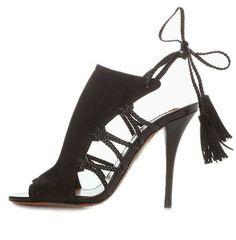 Sahara 105 – Black Suede, diseñador colombiano!!! marca Aquazzura.