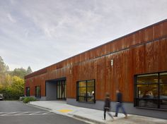 New Open Office Space: office development, California, USA - design by Studio VARA - San Francisco Bay Architecture, Mill Valley building, architect Box Building, Building Section, Building Exterior, Warehouse Floor Plan, Warehouse Project, Open Space Office, San Francisco, Adaptive Reuse, Metal Buildings