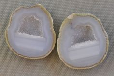 Tabasco Geode 1 Pair Cut and Polished Great for Jewelry 6706