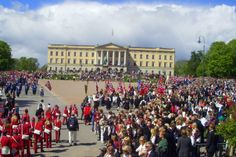 The Royal Castle in Oslo, May 17th, Norways National day.