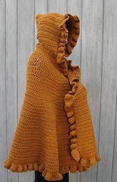 Ravelry: Ruffled Shawl/Cape pattern by Linda Kaye Smith. Make it red