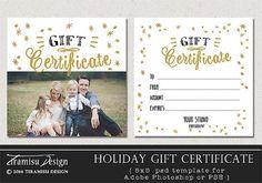 Holiday Christmas Photography Gift Certificate by TiramisuDesign