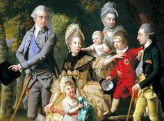 Johann Zoffany, Queen Charlotte with her Children and Brothers Detail, 1771-2