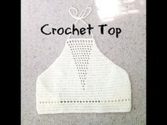 Detailed Halter Top Crochet Tutorial - YouTube