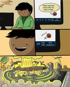 Nunca confie na internet