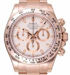 Unworn pink gold Rolex Daytona Ivory dial ref 116505