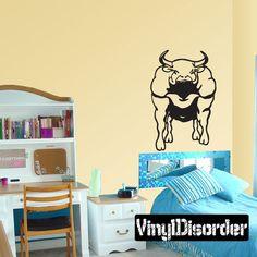 Bull Wall Decal - Vinyl Decal - Car Decal - 012