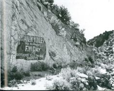 F.W. Day Sign : Photo Details :: The Western Nevada Historic Photo Collection
