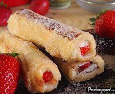Torrijas Rellenas o tostadas francesas rellenas