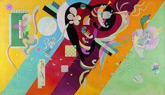 Vasilij Kandinsky, Composizione IX, 1936 olio su tela, cm 114 x 195 – Parigi, Centre Pompidou, Musée National d'Art Moderne * https://ilsassonellostagno.wordpress.com/2016/07/12/vasilij-kandinsky-composizione-ix-sassi-darte/