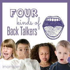 Pinpointing the type of back talk that your child most often engages in can help you diagnose the underlying problem. Do you have a back talker? #respectful